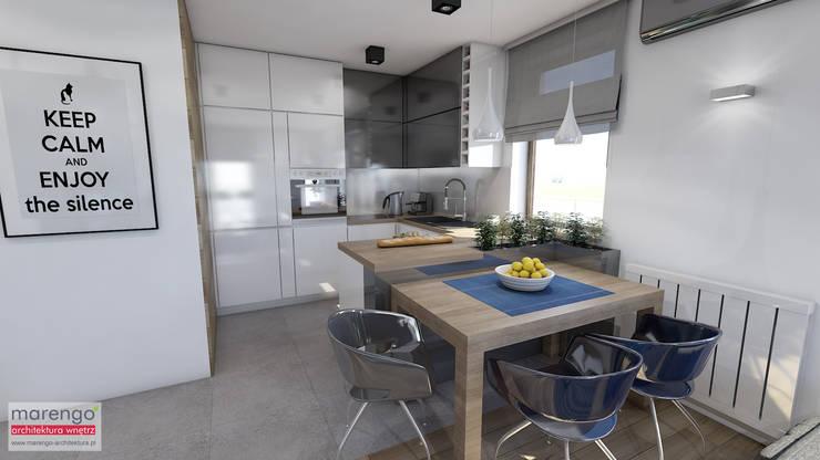ห้องครัว โดย MARENGO ARCHITEKTURA WNĘTRZ, โมเดิร์น