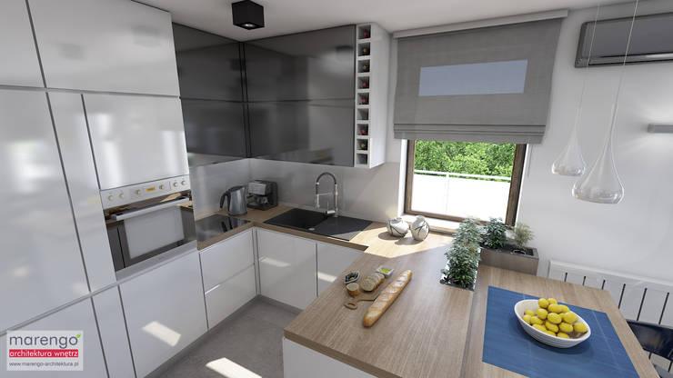 Встроенные кухни в . Автор – MARENGO ARCHITEKTURA WNĘTRZ, Модерн