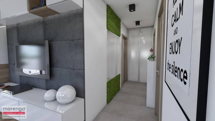 Corridor & hallway by MARENGO ARCHITEKTURA WNĘTRZ, Modern