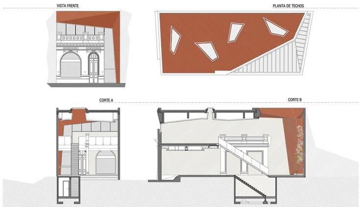 LOCAL NICARAGUA: Galerías y espacios comerciales de estilo  por Speziale Linares arquitectos