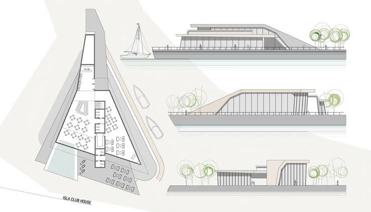 PUERTO ESCONDIDO : Bares y Clubs de estilo  por Speziale Linares arquitectos,Moderno