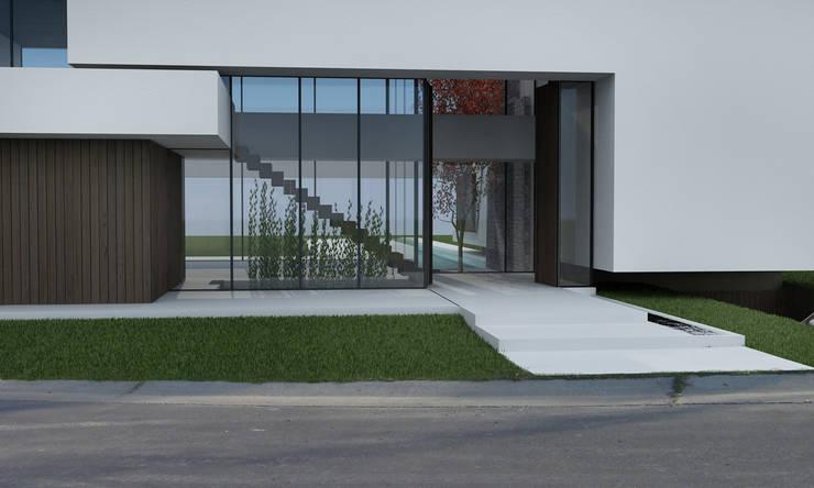 CASA DC: Casas unifamiliares de estilo  por Speziale Linares arquitectos,