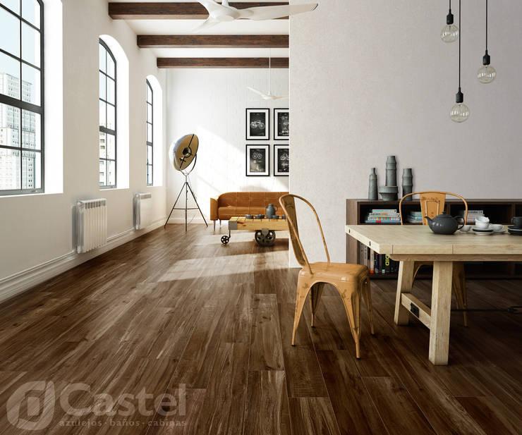 Porcelanato Dash / Castel: Oficinas y tiendas de estilo  por Skyfloor