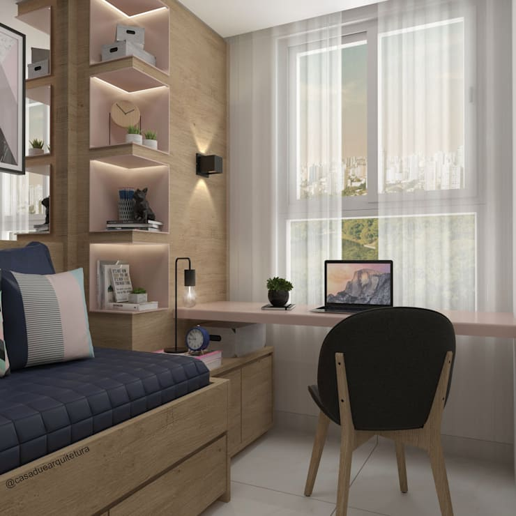 HOME OFFICE: Escritórios  por CASA DUE ARQUITETURA