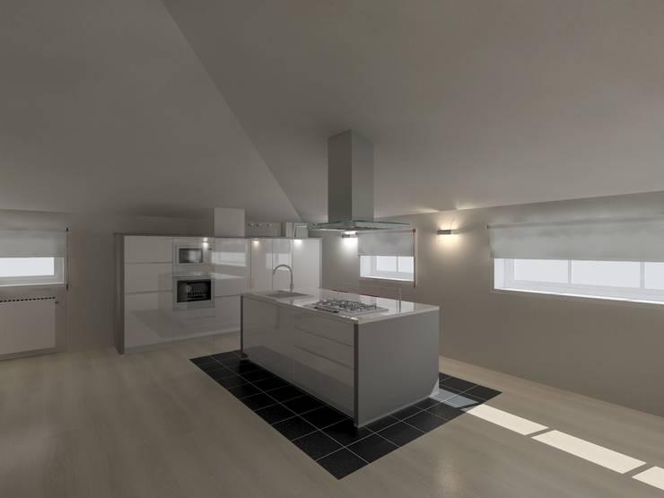 La cucina in mansarda di Luca Riccardo - arredatorepertutti.com | homify