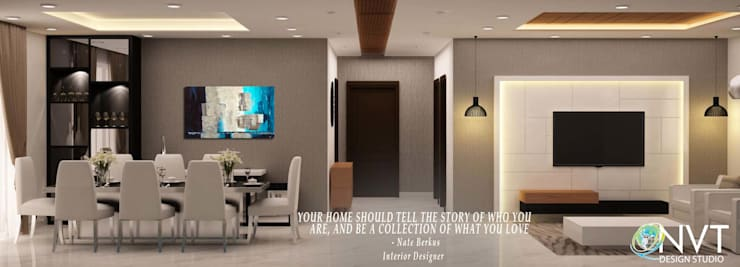 thought of the day: modern Living room by NVT Quality Build solution