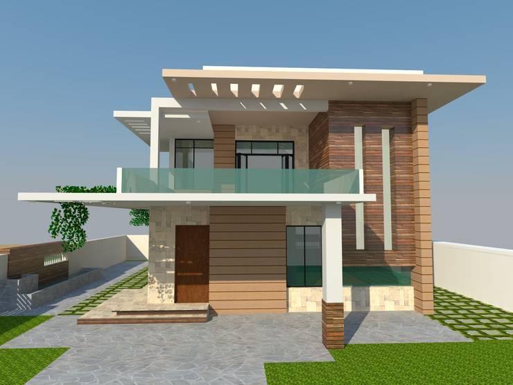 Residence - Mr. S. Narayan:  Villas by S. KALA ARCHITECTS,Modern