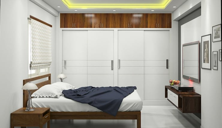Master bedroom:   by Aamuktha Designs