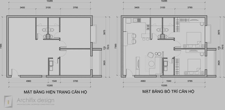 Thiết kế thi công nội thất căn hộ Oriental Plaza :   by Công Ty TNHH Archifix Design