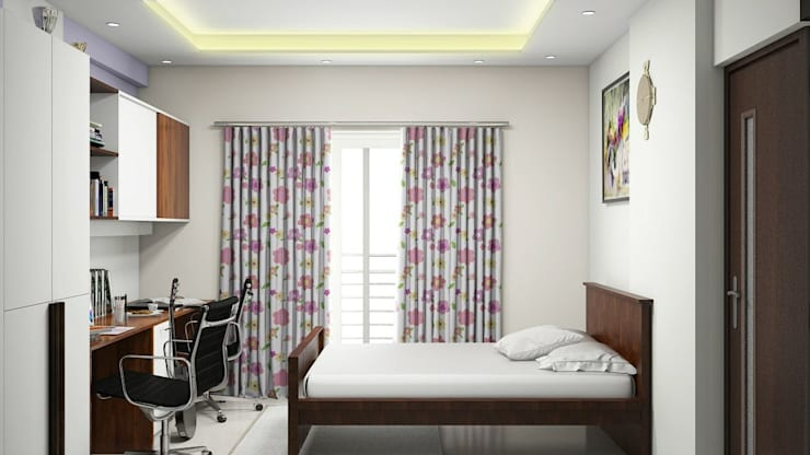 Bedroom:   by Aamuktha Designs