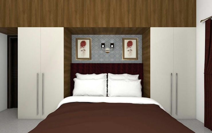 Interiors:  Bedroom by Kruthi Interiors