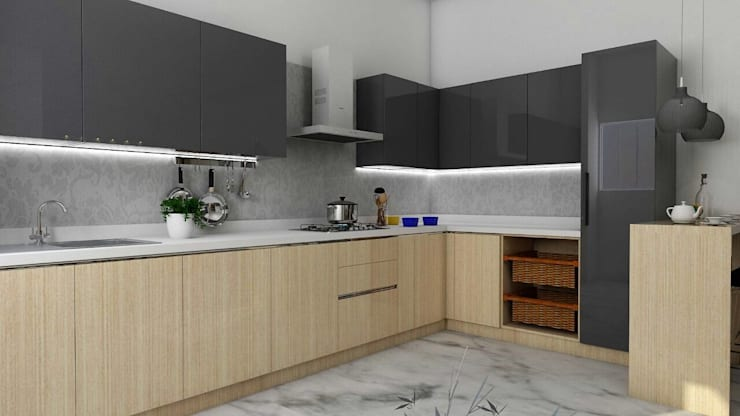 Interiors:  Kitchen by Kruthi Interiors