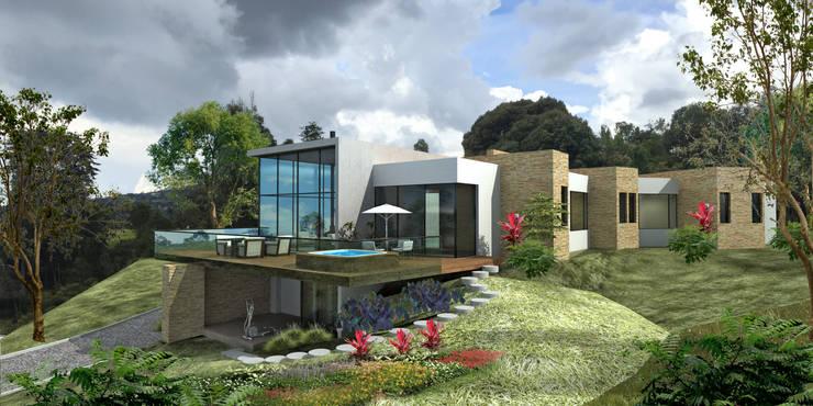 Casa Bella Terra: Casas de estilo  por DOS Arquitectos, Moderno