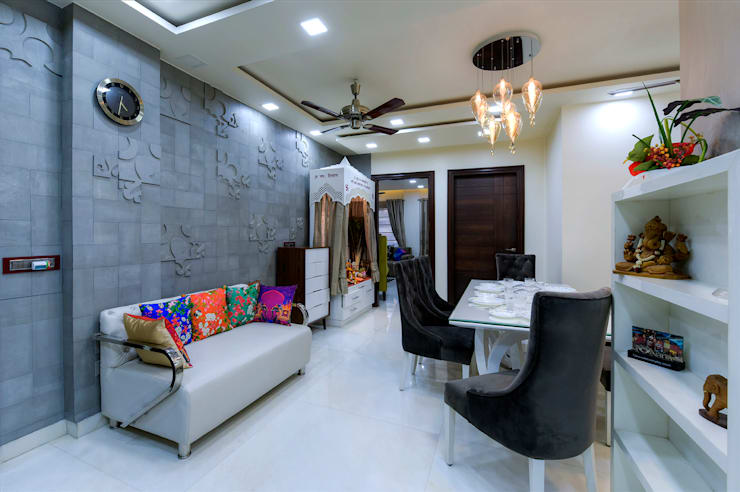 Residential Project:  Dining room by shritee ashish & associates