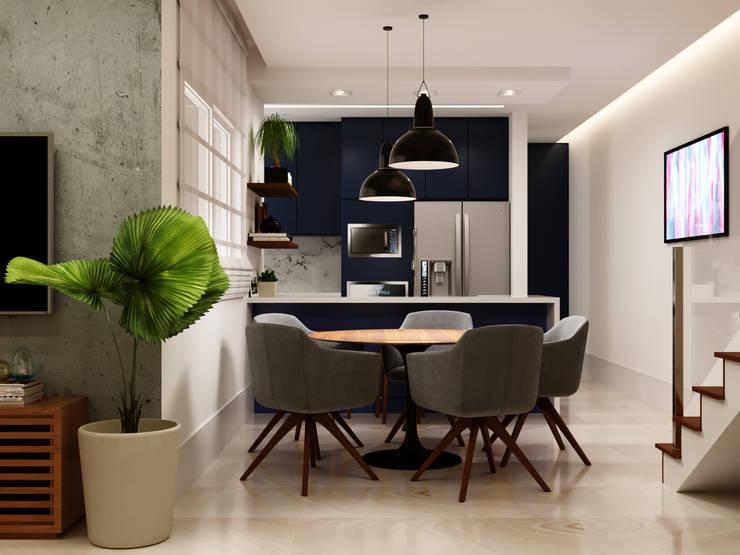 Dining room by Fabíola Escobar - Pratique Arquitetura