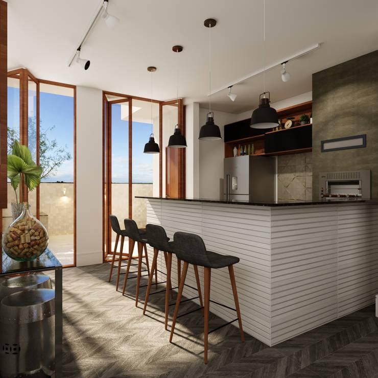 Residência D+A: Terraços  por Fabíola Escobar - Pratique Arquitetura