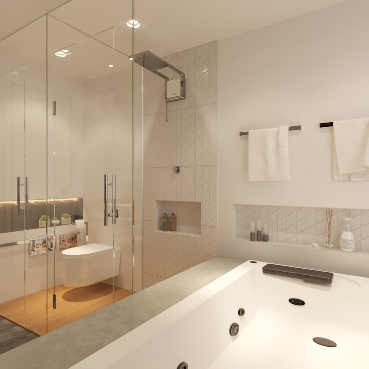 Bathroom by Fabíola Escobar - Pratique Arquitetura