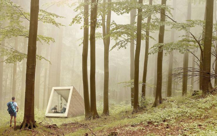 Tiny Cabin:  Buitenhuis door NOHNIK architecture and landscapes, Modern