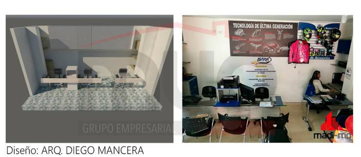 Escritorios ISK: Oficinas y tiendas de estilo  por MADI MD LTDA