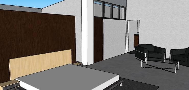 Habitacion Principal: Habitaciones de estilo  por Proyectos Kukenán SAS