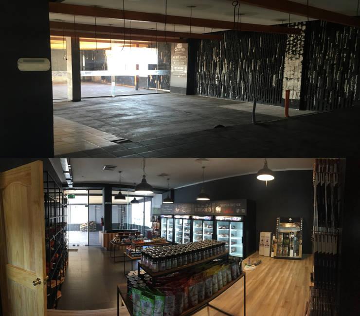 antes y después local comercial:  de estilo  por Constructora ANyG