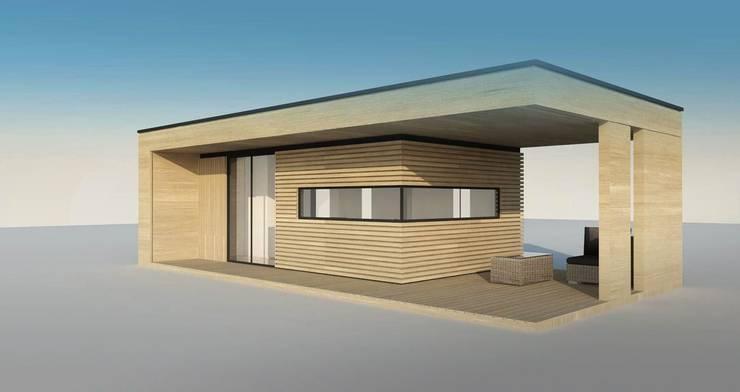 Modelo y diseño arquitectónico :  de estilo  por Constructora ANyG