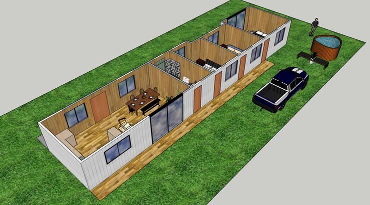 Diseño arquitectónico casa de campo :  de estilo  por Constructora ANyG