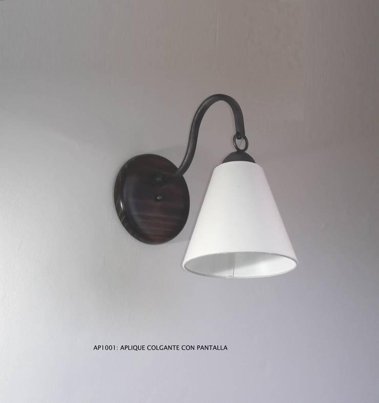 Aplique código AP1001 de Hierro Arte Iluminación EIRL Rústico Hierro/Acero