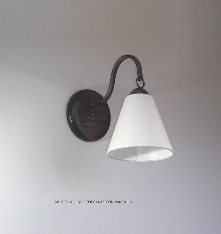 Aplique código AP1001: Hogar de estilo  por Hierro Arte Iluminación EIRL