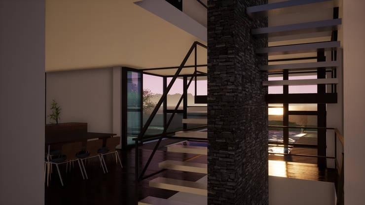 Escaleras de estilo  por Sinapsis Estudio, Minimalista