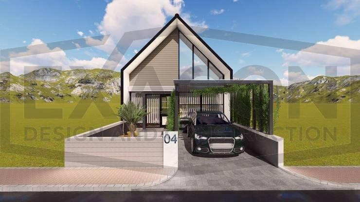 Proyek Rumah Minimalis Tropis Bapak Andrey - Bekasi 1:   by Exacon Multi Rekayasa