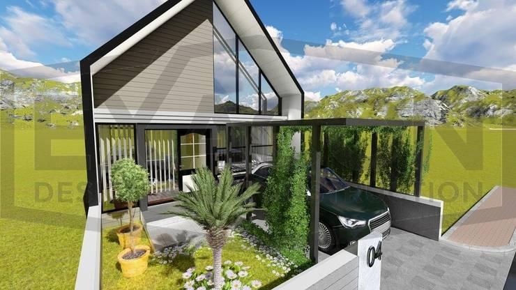 Proyek Rumah Minimalis Tropis Bapak Andrey - Bekasi 2:   by Exacon Multi Rekayasa