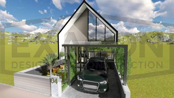 Proyek Rumah Minimalis Tropis Bapak Andrey - Bekasi 3:   by Exacon Multi Rekayasa