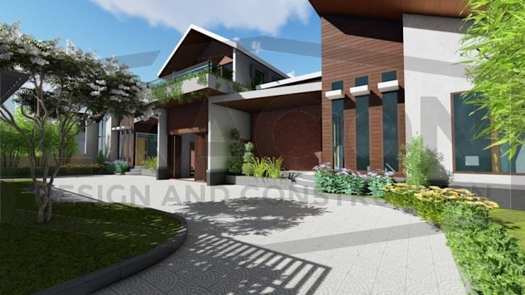 Proyek Rumah Minimalis Modern Bapak Rafa - Depok 6 EXACON:   by Exacon Multi Rekayasa