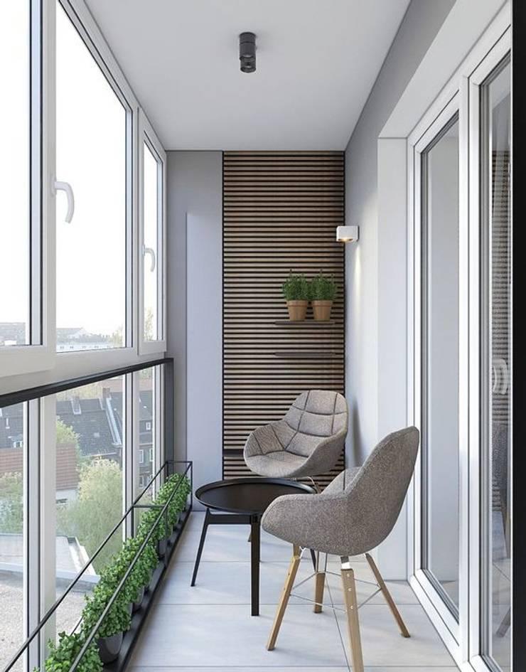 Một thiết kế đơn giản sẽ đem đến không gian thanh lịch.:  Hiên, sân thượng by Công ty TNHH Thiết Kế Xây Dựng Song Phát