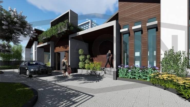 Proyek II Rumah Minimalis Modern Bapak Rafa - Depok 2 EXACON:   by Exacon Multi Rekayasa