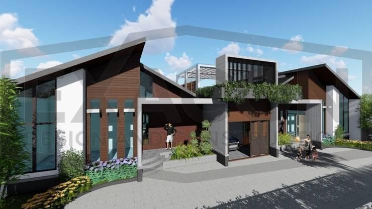 Proyek II Rumah Minimalis Modern Bapak Rafa - Depok 4 EXACON:   by Exacon Multi Rekayasa