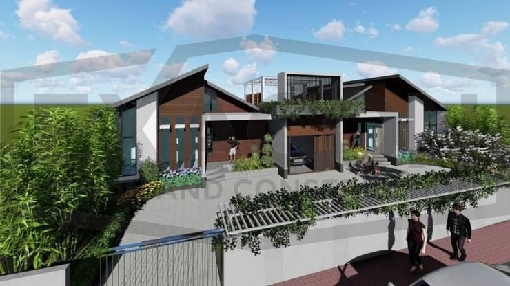 Proyek II Rumah Minimalis Modern Bapak Rafa - Depok 5 EXACON:   by Exacon Multi Rekayasa