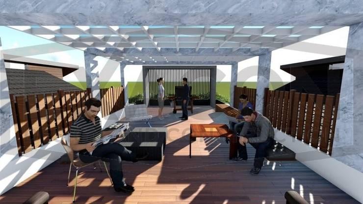 Proyek II Rumah Minimalis Modern Bapak Rafa - Depok 7 EXACON:   by Exacon Multi Rekayasa