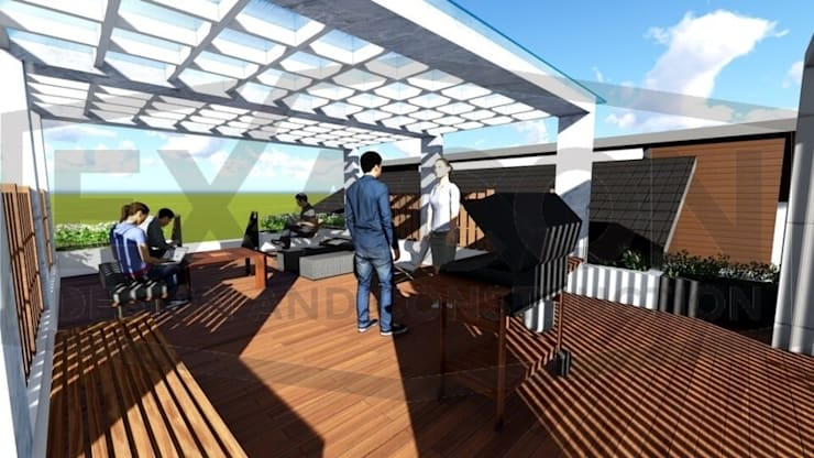 Proyek II Rumah Minimalis Modern Bapak Rafa - Depok 8 EXACON:   by Exacon Multi Rekayasa