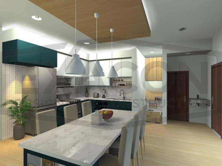 Desain Interior Rumah Minimalis Modern Bapak Tri - Jakarta Selatan 1:   by Exacon Multi Rekayasa