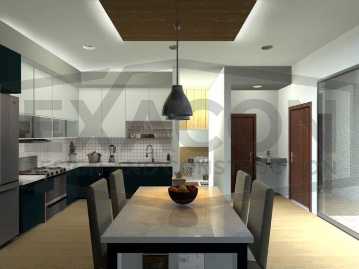 Desain Interior Rumah Minimalis Modern Bapak Tri - Jakarta Selatan 2:   by Exacon Multi Rekayasa