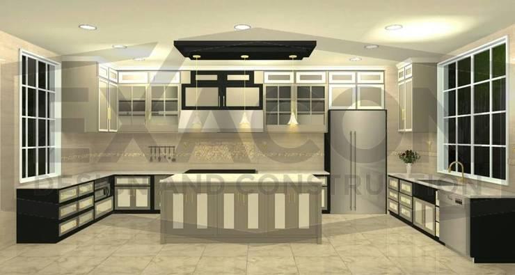 Desain Interior Classic Rumah Bapak Hasan – Depok 1 EXACON:   by Exacon Multi Rekayasa