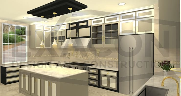 Desain Interior Classic Rumah Bapak Hasan – Depok 2 EXACON:   by Exacon Multi Rekayasa