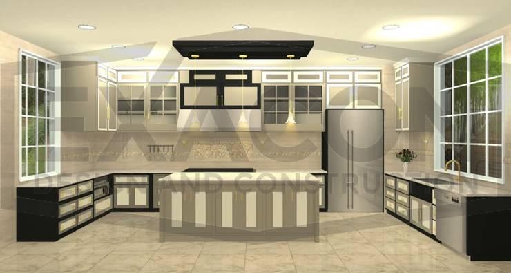Desain Interior Classic Rumah Bapak Hasan – Depok 4 EXACON:   by Exacon Multi Rekayasa