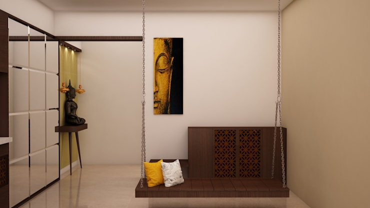 Swing/Jhula inside Hall: modern Living room by NVT Quality Build solution
