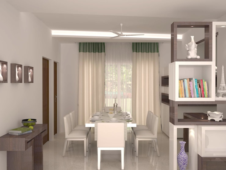 Dining area :  Dining room by NVT Quality Build solution