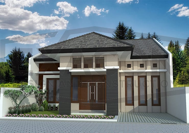 Proyek Rumah Minimalis Modern Bapak Iman - Sumatera:   by Exacon Multi Rekayasa
