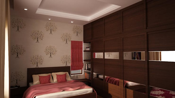 Bedroom 2 : modern Bedroom by NVT Quality Build solution