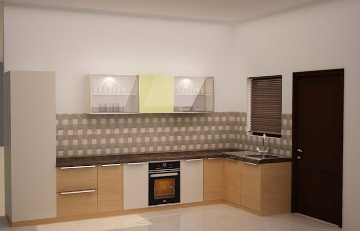Simplified kitchen 01: minimalistic Kitchen by NVT Quality Build solution